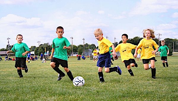 sports asthma in kids playing soccer